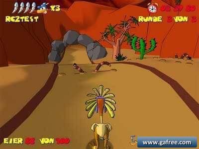 لعبة المغامرات الرائعة Ostrich Runners