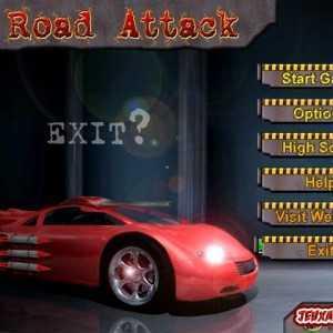 لعبة السيارة الصاروخية Road Attack