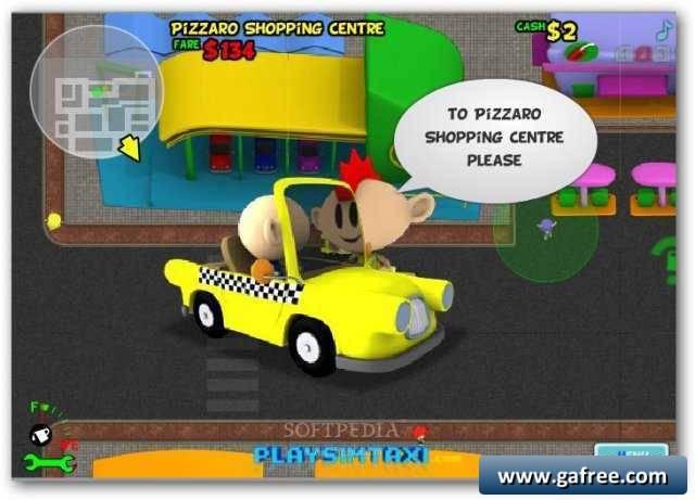 لعبة سيارة الاجرة Sim Taxi Bubble City