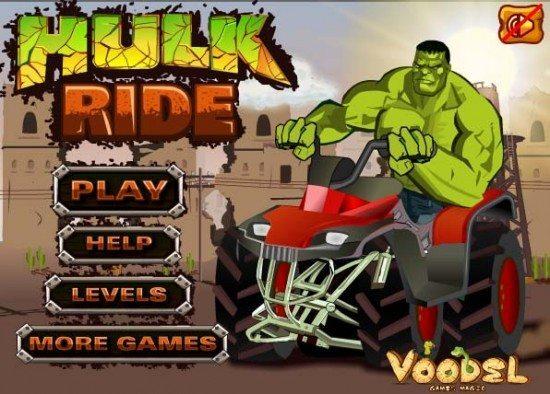 لعبة الوحش الاخضر Hulk Ride