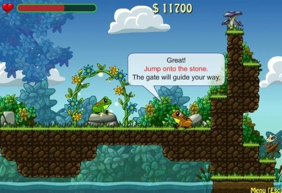 لعبة مغامرات الضفدع FrogDares