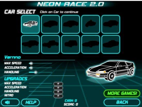 لعبة القيادة في المدينة Neon Race