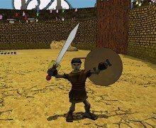 لعبة المصارع الروماني Ludus Magnus