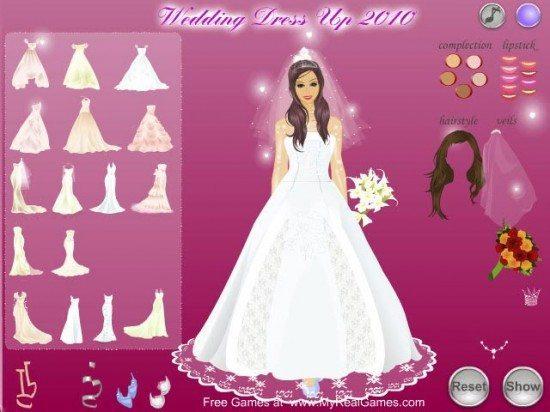 لعبة تلبيس العرائس Wedding Dress Up