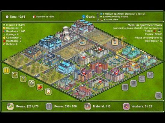 لعبة بناء المدينة Megapolis 124-550x412