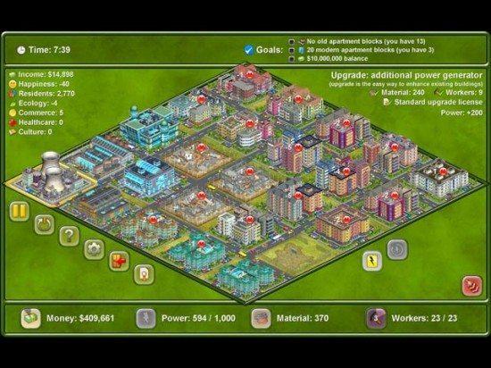 لعبة بناء المدينة Megapolis 223-550x412