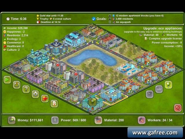 لعبة بناء المدينة Megapolis