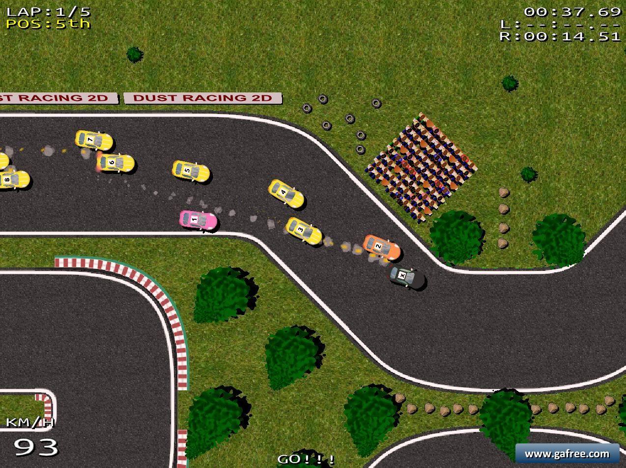 لعبة سيارات سباق Dust Racing 2D