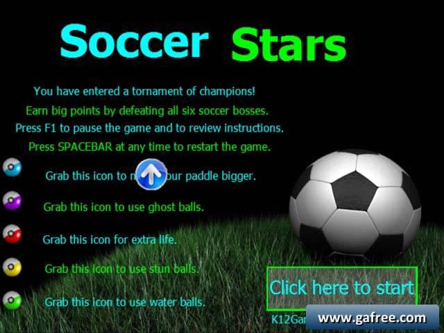 لعبة كرة القدم Soccer Stars