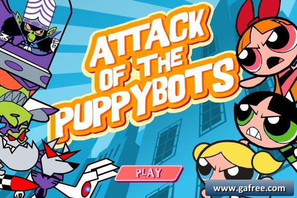 لعبة فتيات القوة Attack Of The Puppybots