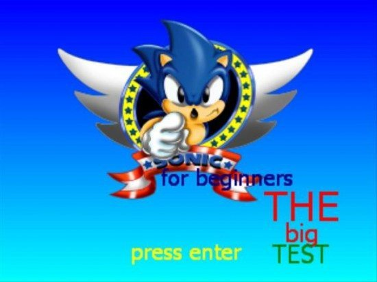 لعبة سوبر سونيك Sonic for Beginners Collection