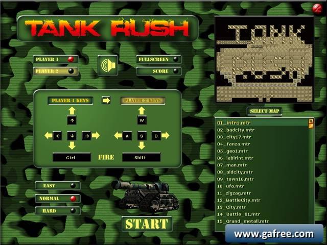 لعبة الدبابات الصغيرة Tank Rush
