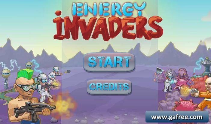 لعبة الهجوم على القرى Energy Invaders
