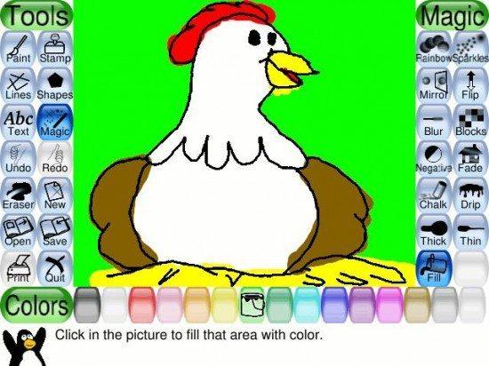 لعبة الرسم والتلوين Tux Paint