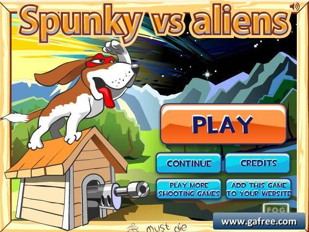 لعبة الكلب الخارق Spunky vs Aliens