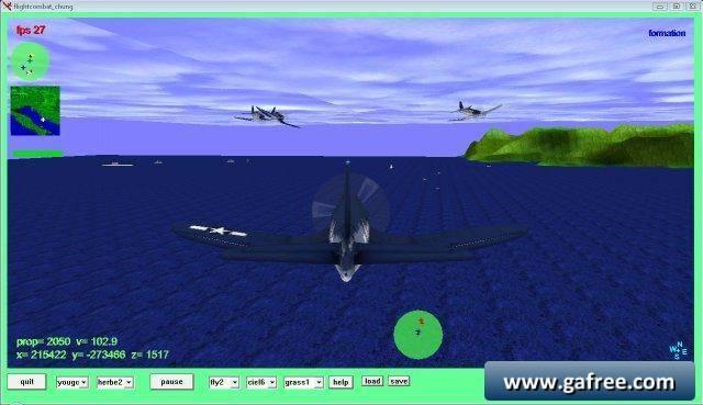 لعبة قتال الطائرات الحربية flightcombat_chung