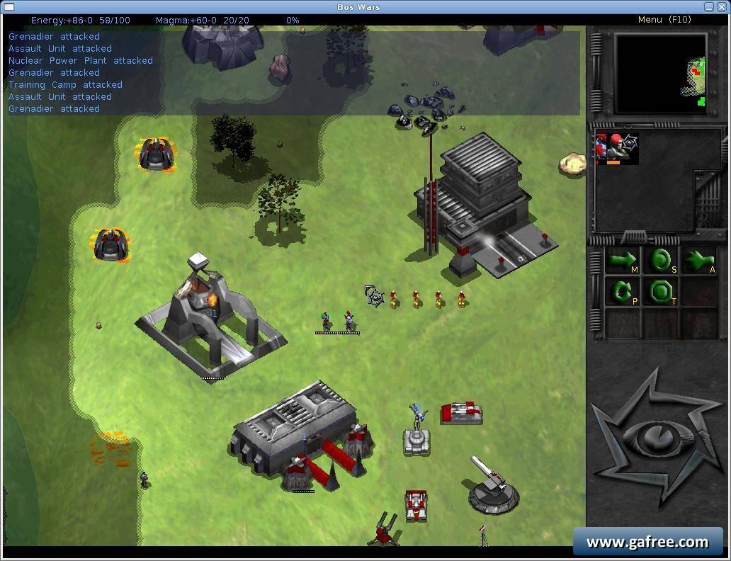 لعبة الحروب الاستراتيجية Bos Wars