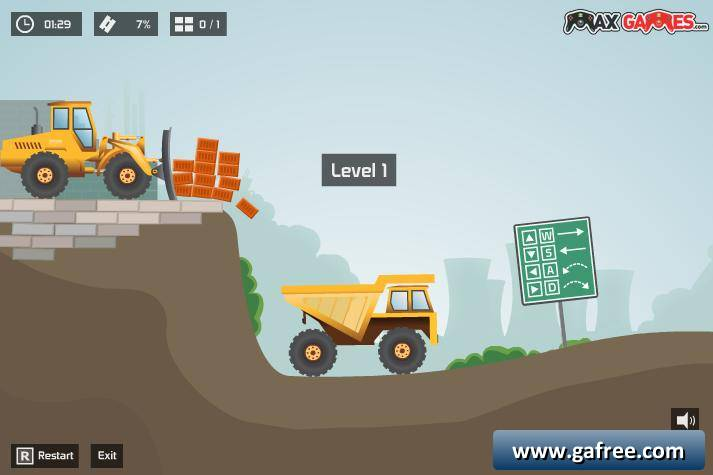 لعبة شاحنة نقل الحجارة Max Dirt Truck