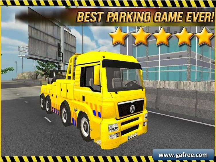 لعبة ركن الشاحنة الضخمة City Crane Parking