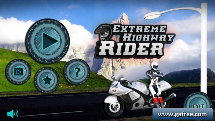 لعبة الدراجات اندرويد Extreme Highway Rider 3D