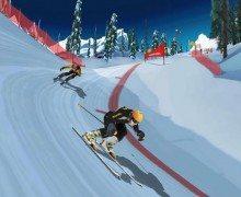 لعبة التزلج على الثلج skiing game
