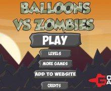 لعبة التصويب على الزومبي Balloons vs Zombies