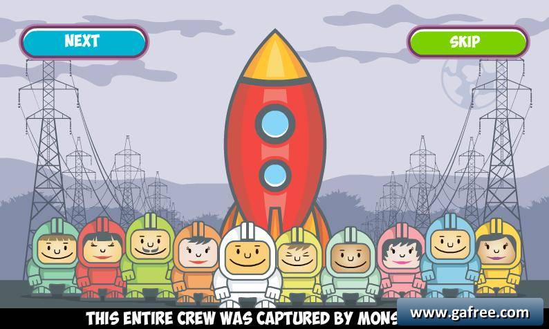 لعبة وحوش الفضاء Spaceman vs Monsters