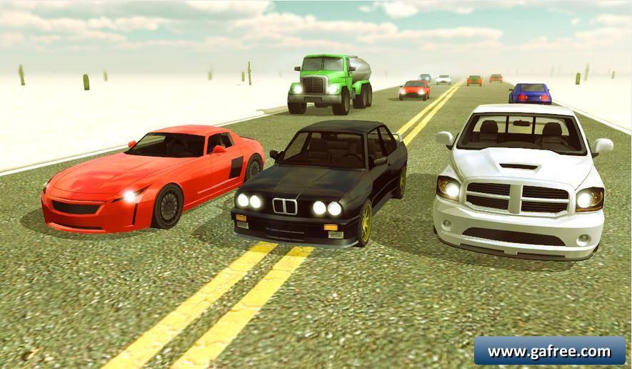 لعبة سباق سيارات للتحميل Desert Traffic Racer