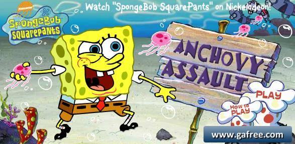 تحميل لعبة مغامرات سبونج بوب Anchovy Assault