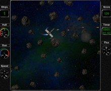 تحميل لعبة حرب الكواكب Asteroid Flux