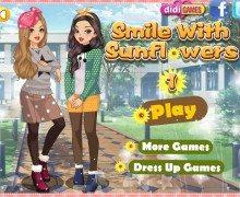 تحميل لعبة تلبيس الفتيات Smile With Sunflowers