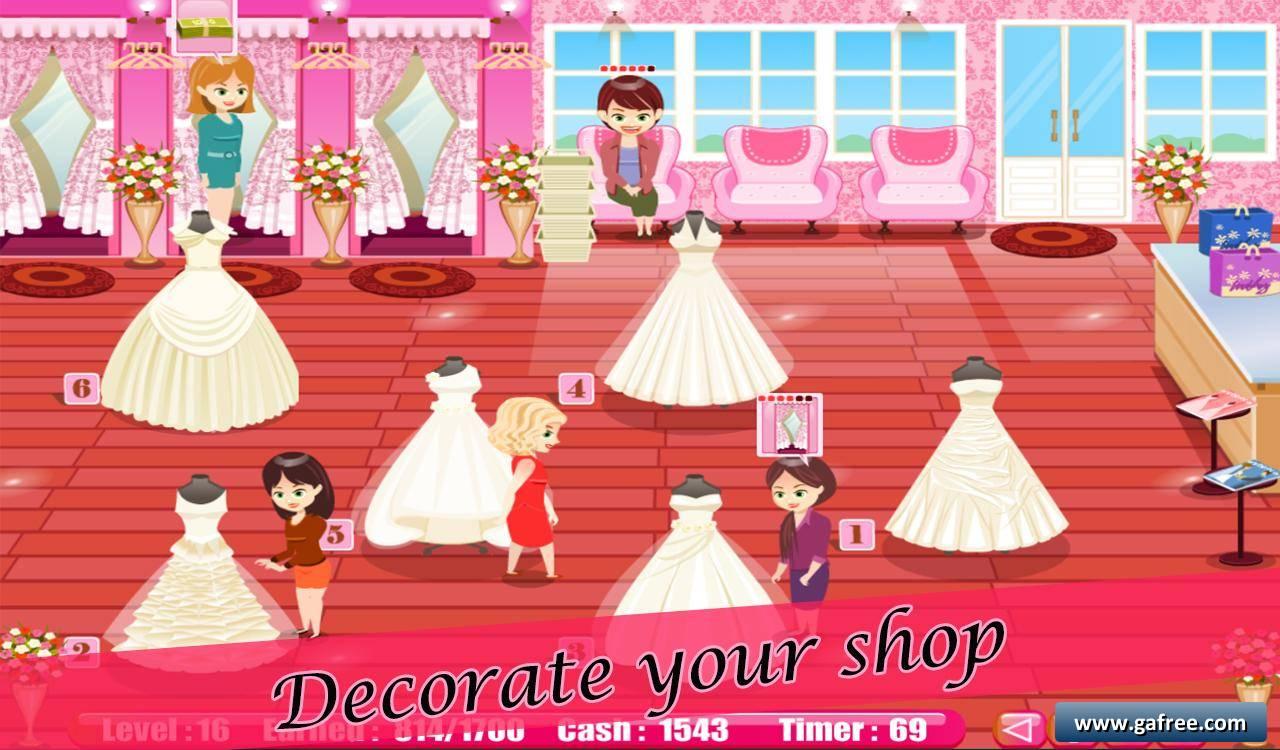 Bridal shop for Wedding dress games online