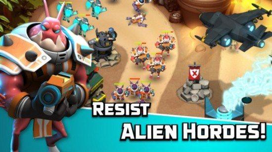 تحميل لعبة الحرب الاستراتيجية للاندرويد Alien Creeps TD