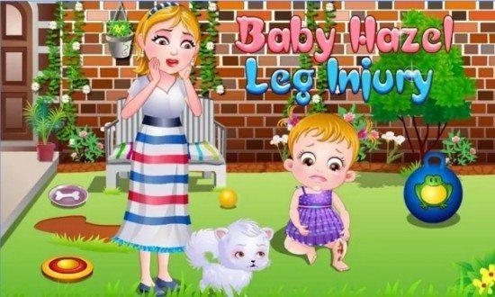 لعبة رعاية الطفل المريض Baby Hazel Leg Injury