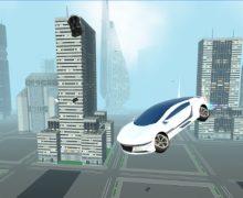 تحميل لعبة السيارة الطائرة Futuristic Flying Car Driving