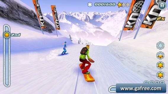 تحميل لعبة التزلج على الجليد للايفون Snowboard Hero