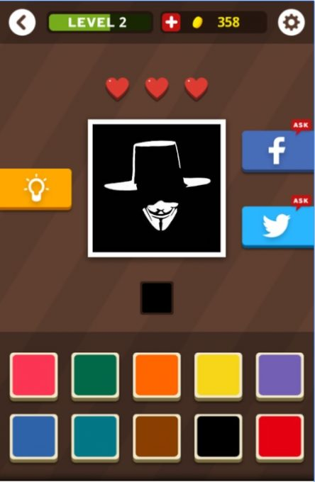 تحميل لعبة تلوين الشعارات Guess The Color