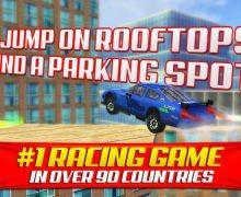تحميل لعبة سيارات المدينة للايفون Roof Jumping Stunt Driving