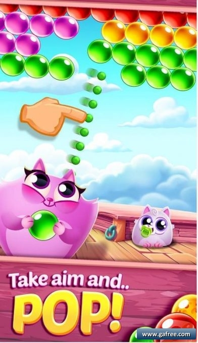 تحميل لعبة كرات ملونة للاندرويد جديدة Cookie Cats Pop