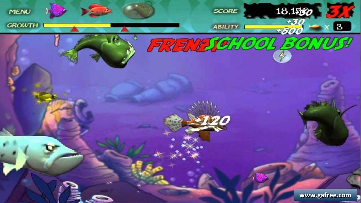لعبة السمكة فيدينج فرينزى