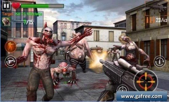 لعبة التصويب على الزومبي وحماية المدينة Zombie Shooter 3D