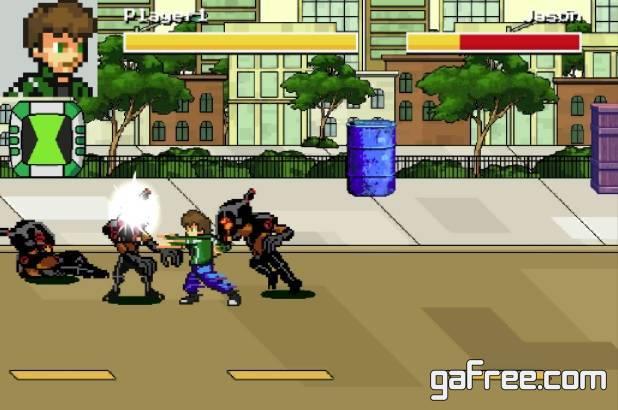 تحميل لعبة قتال بن تن والوحوش Ben Pixel 10 – Raging Fist