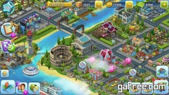 تحميل لعبة بناء المدينة الجديدة للاندرويد SuperCity