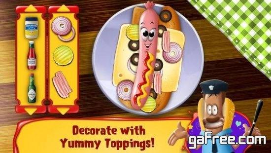 تحميل لعبه مغامرات مسلية للايفون Hot Dog Hero Adventure