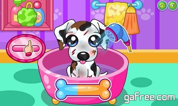 تحميل لعبة رعاية الكلاب للاندرويد Caring for puppy salon