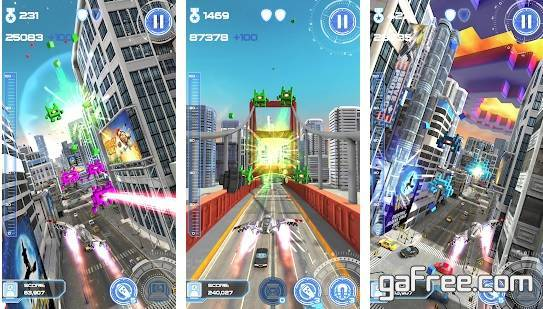 تحميل لعبة انقاذ كوكب الارض اكشن Jet Run City Defender