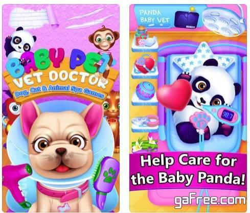 تحميل لعبة طبيب الحيوانات للايفون Baby Pet Vet Doctor