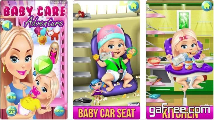 تحميل لعبة رعاية الطفل الرضيع للايفون Baby Care Adventure