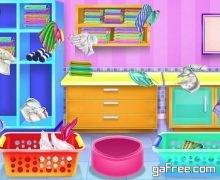 تحميل لعبة تنظيف المنزل Olivia's washing laundry game