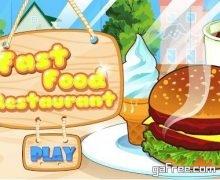 تحميل لعبة المطعم restaurant كاملة Fast food restaurant